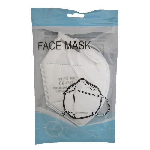 FFP2 Atemschutz Maske mit Nasenklipp weiß zertifiziertes Produkt am Lager
