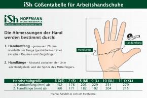 ISH Hoffmann Montagehandschuhe Arbeitshandschuhe 0680-ISH Opti-Flex - Größe 10 | 12 Paar